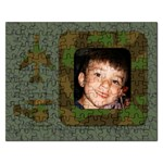 Green Cammo Puzzle - Jigsaw Puzzle (Rectangular)