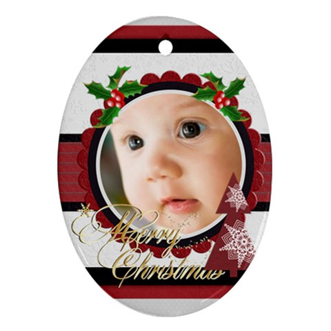 Xmas By Joely   Ornament (oval)   Di02c8t92bec   Www Artscow Com Front