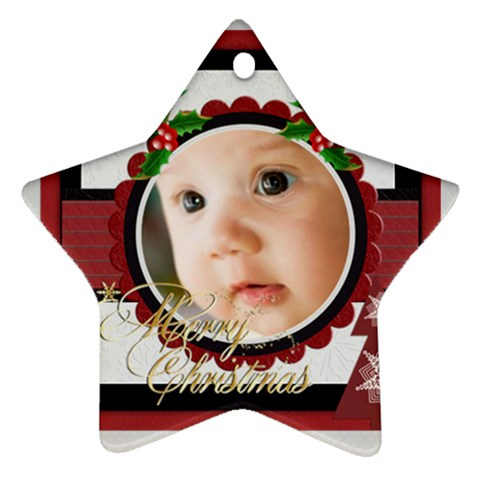 Xmas By Joely   Ornament (star)   Nn07ezbkidcl   Www Artscow Com Front
