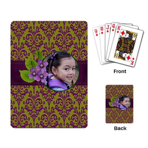 Playing Cards  Lavander Love By Jennyl   Playing Cards Single Design (rectangle)   C6xfdndc353x   Www Artscow Com Back