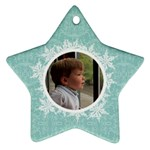Tiffany Blue Snowflake Star Ornament - Ornament (Star)