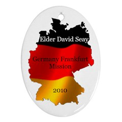 Elder David Seay Ornament 2010 By Stephanie   Oval Ornament (two Sides)   J57k9pdnp9ln   Www Artscow Com Back