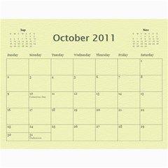 Baby s First Year By Snackpackgu   Wall Calendar 11  X 8 5  (12 Months)   2j3o6p4bxus5   Www Artscow Com Oct 2011