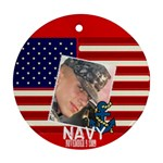 navy 02 - Ornament (Round)