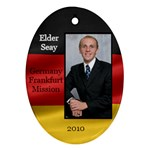 Elder Seay German flag ornament 2010 - Ornament (Oval)