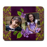 Mousepad-bianca-lavander love - Large Mousepad
