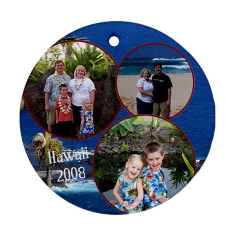 Hawaii By Melissa Conley   Ornament (round)   Xzqyxpuncy73   Www Artscow Com Front