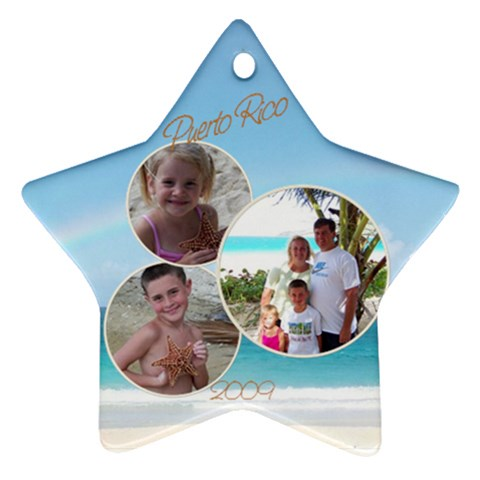Puerto Rico By Melissa Conley   Ornament (star)   7bo0rwntn6lj   Www Artscow Com Front