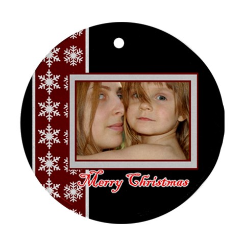 Merry Christmas By Wood Johnson   Ornament (round)   Ln1rhnl09tzb   Www Artscow Com Front