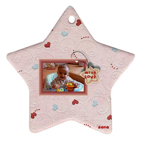 With Love   2010 Pink By Daniela   Ornament (star)   T39ogxmpu1bx   Www Artscow Com Front