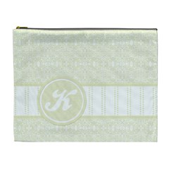 Yellow Monogram Xl Cosmetic Bag By Klh   Cosmetic Bag (xl)   Bptespf7c2cd   Www Artscow Com Front
