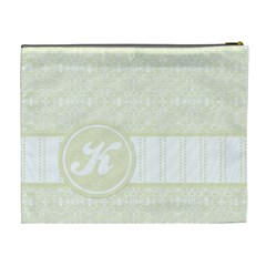 Yellow Monogram Xl Cosmetic Bag By Klh   Cosmetic Bag (xl)   Bptespf7c2cd   Www Artscow Com Back