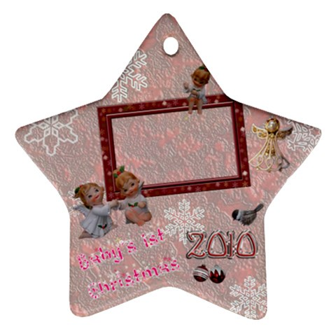 Angels Baby s 1st Christmas 2010 Ornament 38 By Ellan   Ornament (star)   Fvjw7czqyyag   Www Artscow Com Front