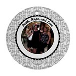Faith, Hope, & Love Christmas Ornament - Ornament (Round)