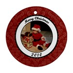 Merry Christmas 2010 Round Ornament - Ornament (Round)
