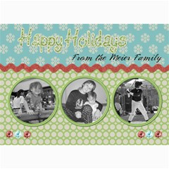 Happy Holidays Christmas Card By Martha Meier   5  X 7  Photo Cards   49e2p0ufxffu   Www Artscow Com 7 x5 Photo Card - 5