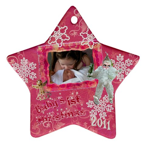 Angel Santa Baby s 1st Christmas Pink 2010 Ornament  130 By Ellan   Ornament (star)   Hv8uralyozbp   Www Artscow Com Front