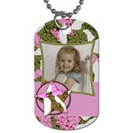 Girls Cammo Tag - Dog Tag (One Side)