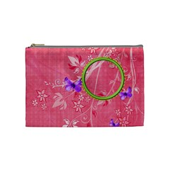 Cosmetic Bag Miss Ladybugs Garden 1002 By Lisa Minor   Cosmetic Bag (medium)   X3we2vlqrrtj   Www Artscow Com Front