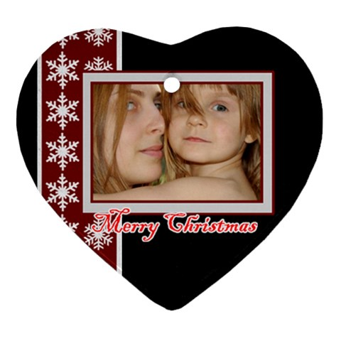Xmas By Wood Johnson   Ornament (heart)   47v1hlvajzc7   Www Artscow Com Front