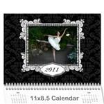 Ballerina Calendar - Wall Calendar 11  x 8.5  (12-Months)