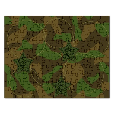 Cammo Circle Puzzle By Amanda Bunn   Jigsaw Puzzle (rectangular)   3q6uysp4g954   Www Artscow Com Front