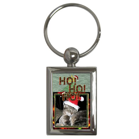 Ho Ho Ho Key Chain By Lil    Key Chain (rectangle)   Npisiezeau95   Www Artscow Com Front