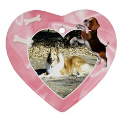 Doggie Love  By Snackpackgu   Heart Ornament (two Sides)   Uf8p6swwrhw4   Www Artscow Com Back
