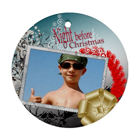 Xmas By Joely   Ornament (round)   Mgvzksrmfunb   Www Artscow Com Front