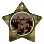 Snowflake Star Christmas Ornament - Ornament (Star)