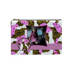 Medium Cammo Cosmetic Bag By Amanda Bunn   Cosmetic Bag (medium)   48zfw2nmegom   Www Artscow Com Front