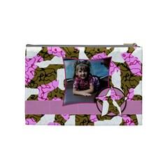 Medium Cammo Cosmetic Bag By Amanda Bunn   Cosmetic Bag (medium)   48zfw2nmegom   Www Artscow Com Back