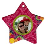 Bright Pink Star Ornament - Ornament (Star)