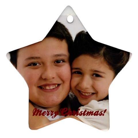 Xmas Ornament By Lettie Line   Ornament (star)   052ry1qic09k   Www Artscow Com Front
