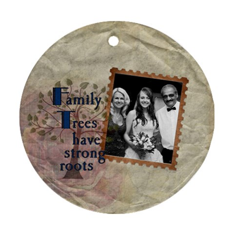 Family Trees 1 Sided Round Ornament By Lil    Ornament (round)   Pucwe1x5q1e1   Www Artscow Com Front