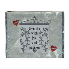 Live Life     Xl Cosmetic Bag By Lil    Cosmetic Bag (xl)   Ocy75d619bmr   Www Artscow Com Front