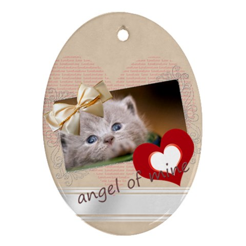 Angel Of Mine By Joely   Ornament (oval)   Vztqhu3656yd   Www Artscow Com Front
