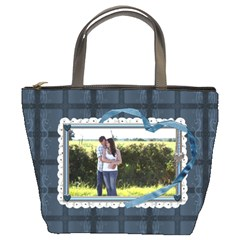 Blue Love Bucket Bag By Lil    Bucket Bag   8cdwrocna2us   Www Artscow Com Front