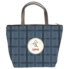 Blue Love Bucket Bag By Lil    Bucket Bag   8cdwrocna2us   Www Artscow Com Back