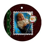 Santa Christmas 1-Sided Ornament - Ornament (Round)