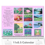 Bea s Paintings 2010 - Wall Calendar 11  x 8.5  (12-Months)
