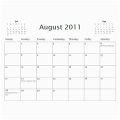 Bea s Paintings 2010 By Leannlhee Ang   Wall Calendar 11  X 8 5  (12 Months)   044d0rmajnie   Www Artscow Com Aug 2011