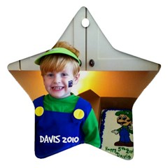 Davis Ornament By Cindy Blair Speigle   Star Ornament (two Sides)   T26dx089vdvw   Www Artscow Com Front