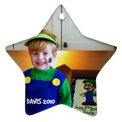Davis Ornament By Cindy Blair Speigle   Star Ornament (two Sides)   T26dx089vdvw   Www Artscow Com Back
