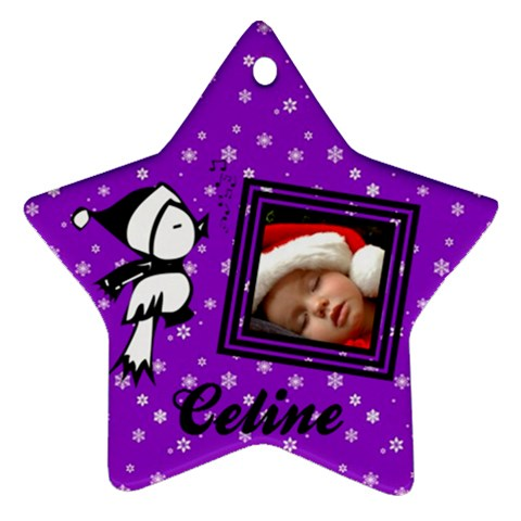 Purple Christmas   Ornament By Carmensita   Ornament (star)   Ndv2v6tvhyu8   Www Artscow Com Front