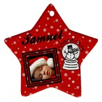 Red christmas - Ornament - Ornament (Star)
