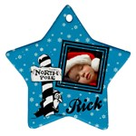 Blue christmas - Ornament - Ornament (Star)