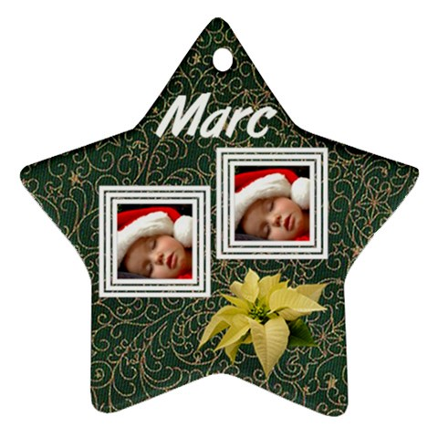 Flowers Christmas   Ornament By Carmensita   Ornament (star)   N2r04hazlraa   Www Artscow Com Front