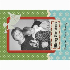Merry Christmas Card With Angel By Martha Meier   5  X 7  Photo Cards   K3a2vv0nw10h   Www Artscow Com 7 x5 Photo Card - 5