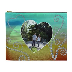 Pretty Diamond Sunset Xl Cosmetic Bag By Lil    Cosmetic Bag (xl)   Ye6mvrv5hhfu   Www Artscow Com Front
